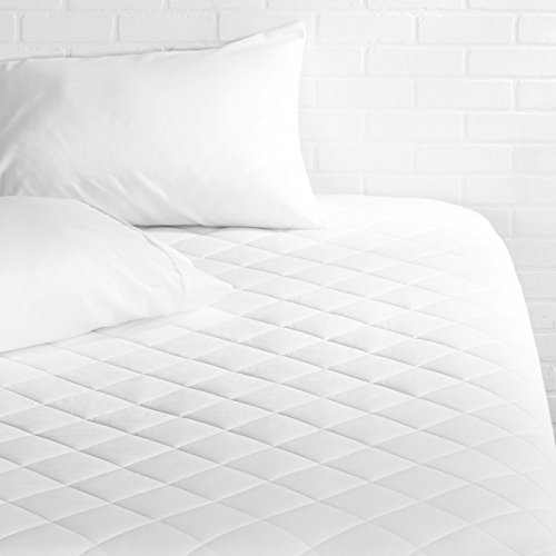 AmazonBasics Hypoallergenic Quilted Mattress Topper Pad Cover