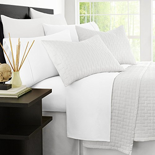 Zen Bamboo Luxury 1500 Series Bed Sheets, White