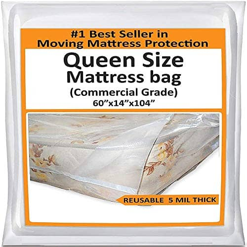 5 Mil Heavy-Duty Thick Plastic Bed Mattress Cover Protector