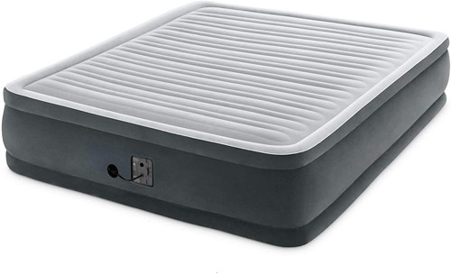 Intex 18-inch Inflatable Fiber-Tech Elevated Premium Plus Airbed Mattress