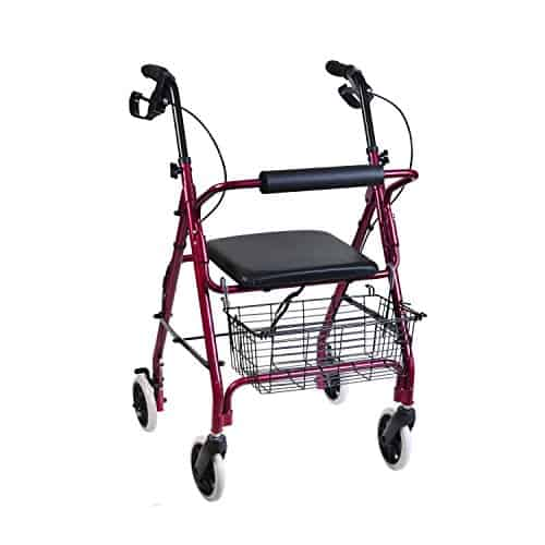 DMI Rollator Walker with Extra Wide Seat