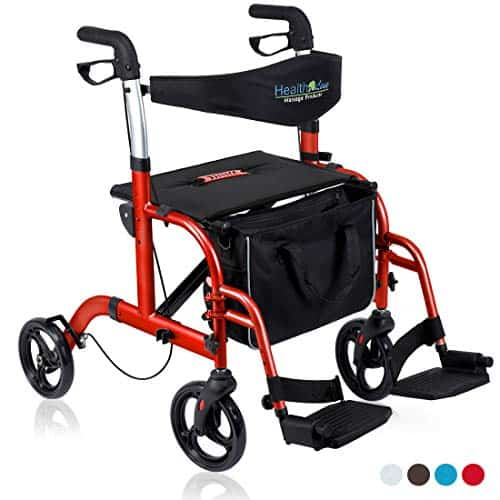 Health Line Massage Products 2 in 1 Rollator-Transport Chair