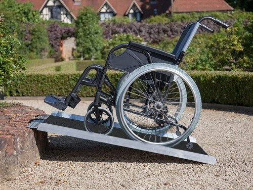 Clevr 3' Extra Wide Aluminum Wheelchair Loading Ramp