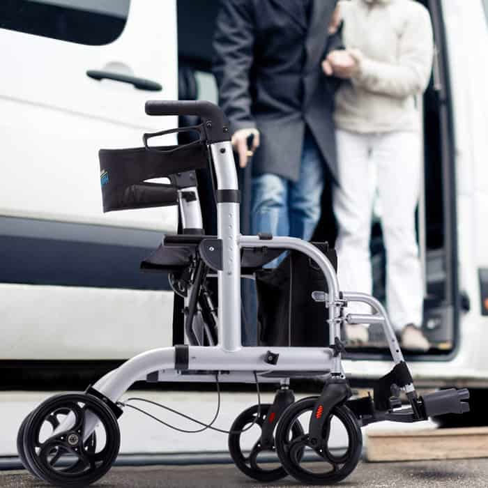 Rollator For Outdoor Use
