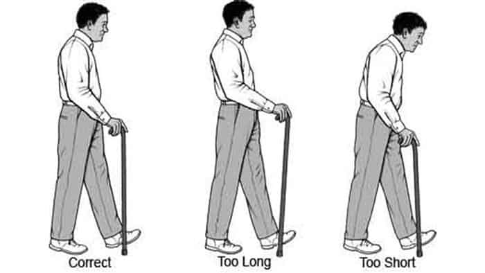 How tall should a cane be