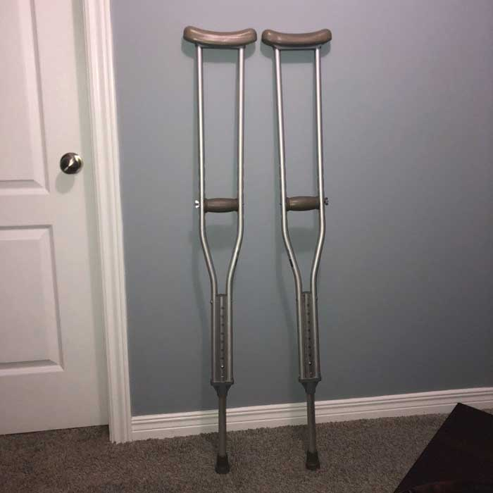Using Crutches After Knee Surgery